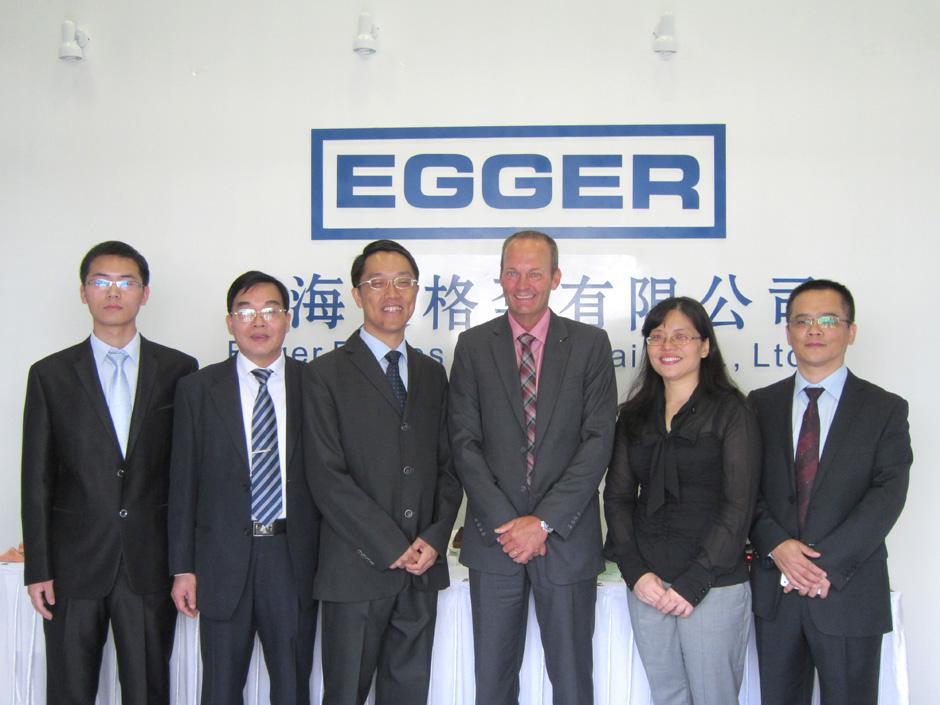 Eröffnung Egger Shanghai