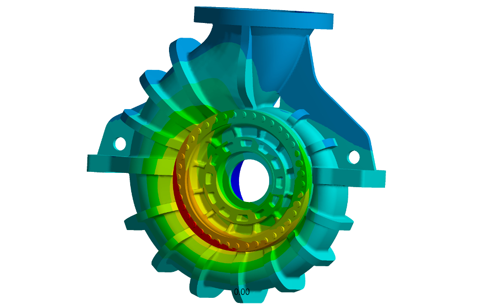 Finite element calculation of an Egger Process Pump